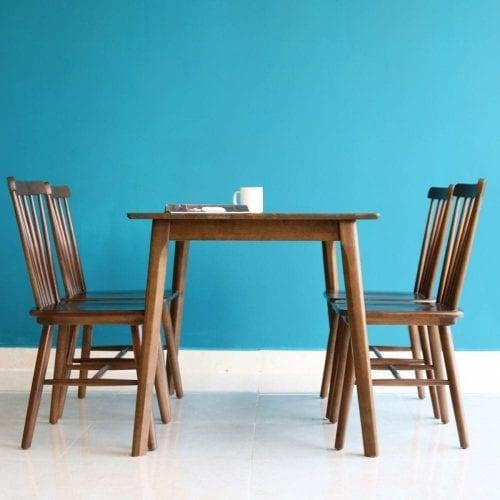 Bộ bàn ăn Rio Nâu 4 ghế
