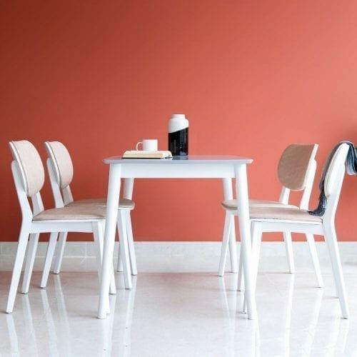 Bộ bàn ăn Hana trắng 4 ghế
