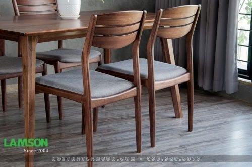 Bàn 4 ghế ăn MARVEL - VEGA gỗ óc chó