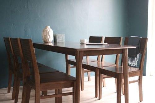 Bộ bàn ăn Cherry walnut 6 ghế
