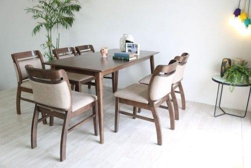 Bộ bàn ăn Ashley nâu 6 ghế